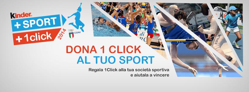 1click donation con Kinder – Nuovo concorso 2014